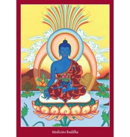 Tibetan Buddhist Art postkaart Medicijn Boeddha