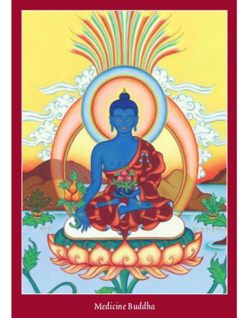 Tibetan Buddhist Art postcard Medicine Buddha