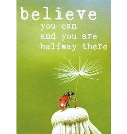 ZintenZ postcard Believe you can