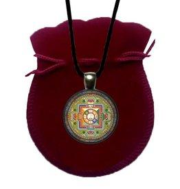 Tibetan Buddhist Art necklace Mandala Avalokiteshvara