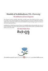 Tibetan Buddhist Art postcard Mandala of Avalokiteshvara square