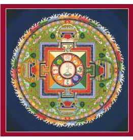 Tibetan Buddhist Art postkaart Mandala Avalokiteshvara vierkant