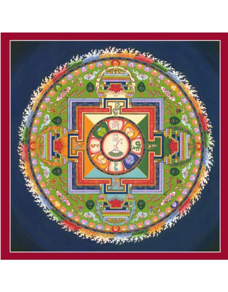 Tibetan Buddhist Art postcard Mandala of Avalokiteshvara square