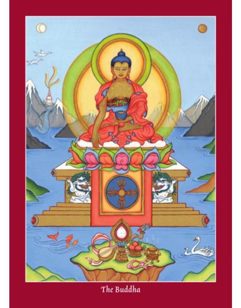 Tibetan Buddhist Art postkaart Thangka cadeauset groot
