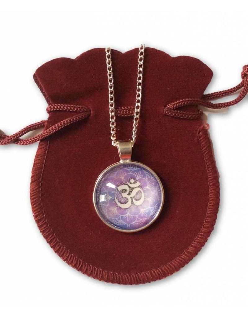 Tibetan Buddhist Art necklace Ohm