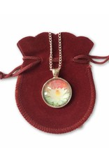 Tibetan Buddhist Art necklace Lotus