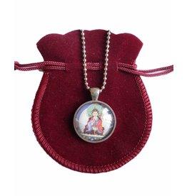 Tibetan Buddhist Art ketting Padmasambhava zilver