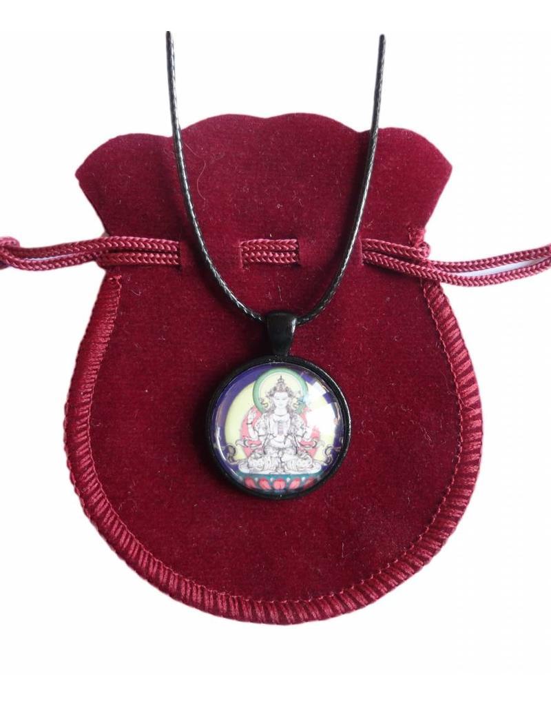 Tibetan Buddhist Art necklace Avalokiteshvara