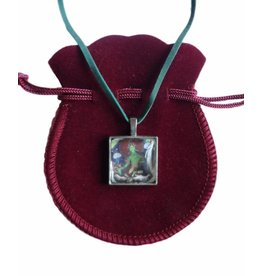 Tibetan Buddhist Art necklace Green Tara square