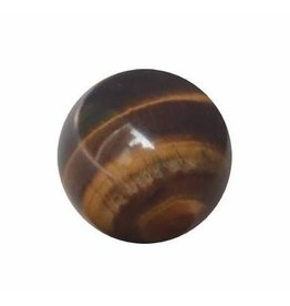 Interchangeable gemstone Tigers Eye 10 mm