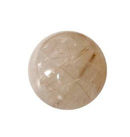 Interchangeable gemstone Rutilated Quartz 12 mm