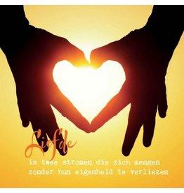 ZintenZ postkaart Liefde is twee stromen