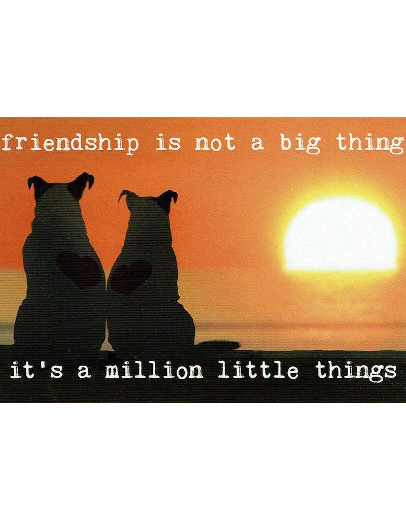 ZintenZ postcard Friendship is not a big thing