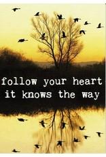 ZintenZ postkaart Follow your heart