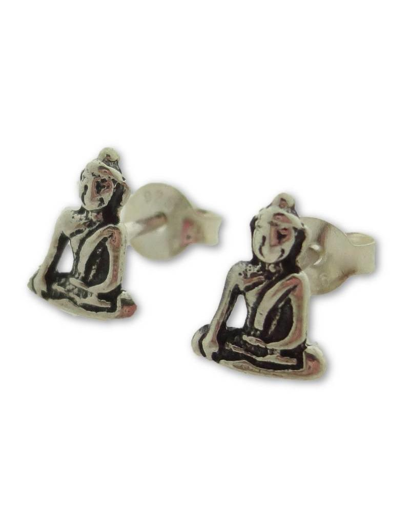 Shanti stud earrings Buddha