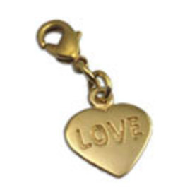 Shanti charm heart recycled brass