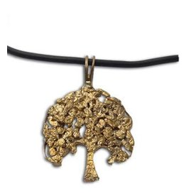 "Shanti necklace ""Tree of life"" recycled brass"