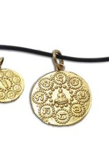 "Shanti necklace ""Om mani padme hum"" recycled brass"