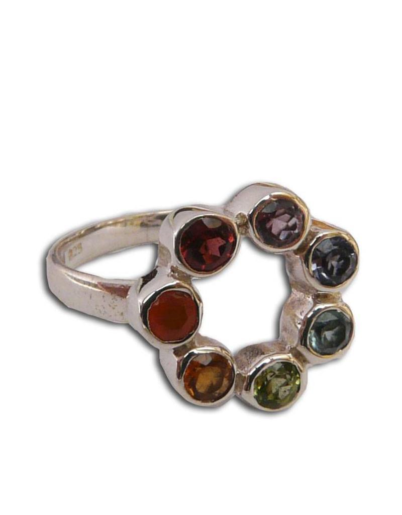 Shanti ring seven chakras circle of happiness