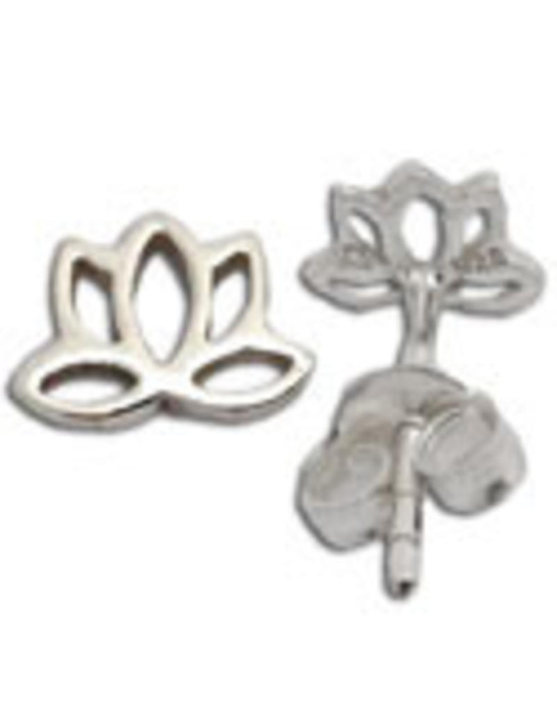 Shanti stud earrings lotus
