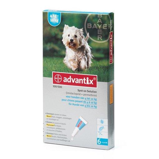 Advantix 100/500 Hund 4-10 kg 6 Pipetten (SIXPACK)