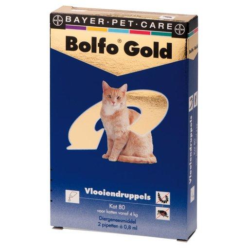 Bolfo Gold 80 Katze 4-8 kg 2 Pipetten