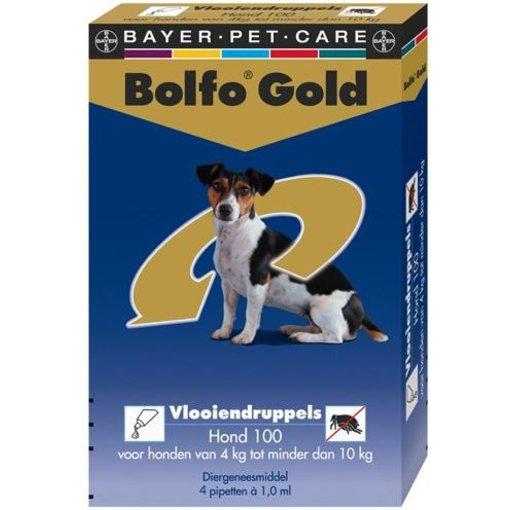 Bolfo Gold 100 Hund 4-10 kg 4 Pipetten