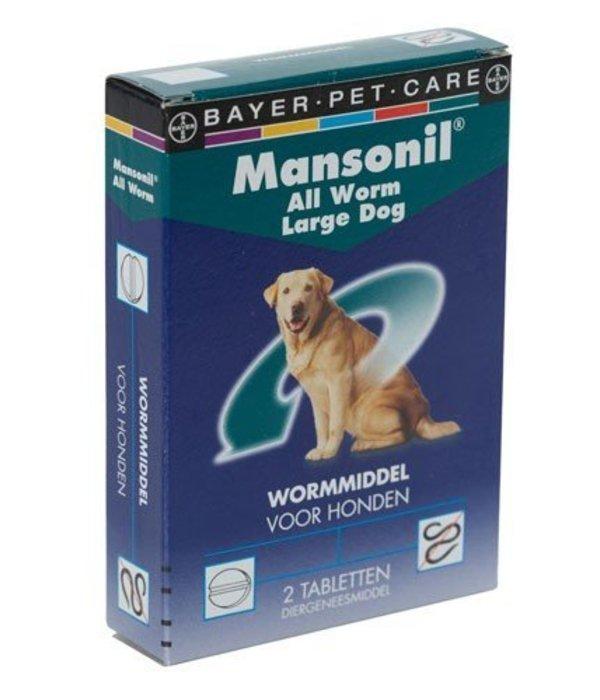 mansonil all worm large dog flavour 2 tabletten. Black Bedroom Furniture Sets. Home Design Ideas