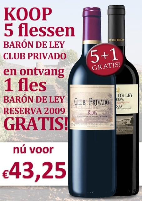 Baron de Ley Club Privado - 5 + 1 gratis fles Baron de Ley Reserva
