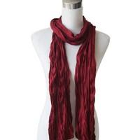"Sjaal ""Uni Jersey S"" donker rood"