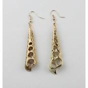 Earring | Shell | Light Brown | Gold