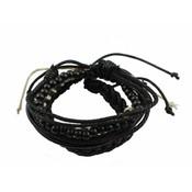 Armband | Leer | Set | Black