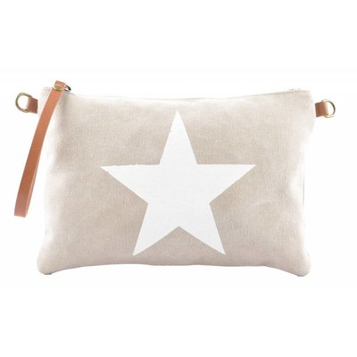 "Clutch ""Star"" beige"
