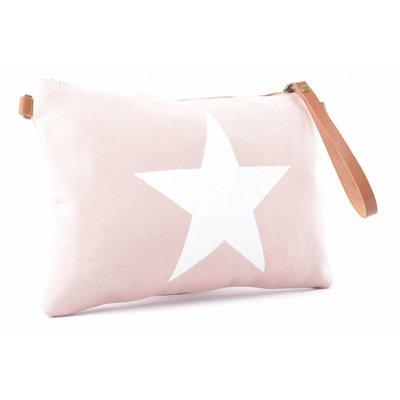 Tasche | Star | Canvas | Pink