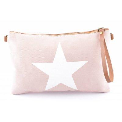 Bag | Star | Canvas | Pink