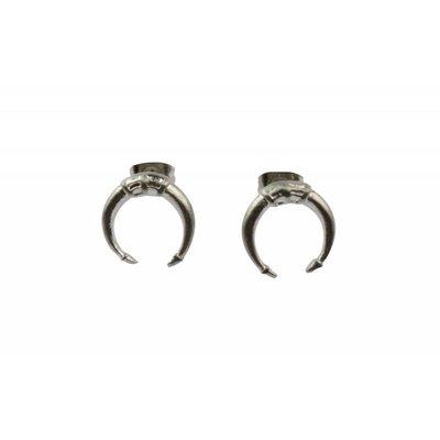 Oorbel    Symbol   Stainless Steel   Silver
