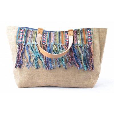 Shopper | Burlap | Blue