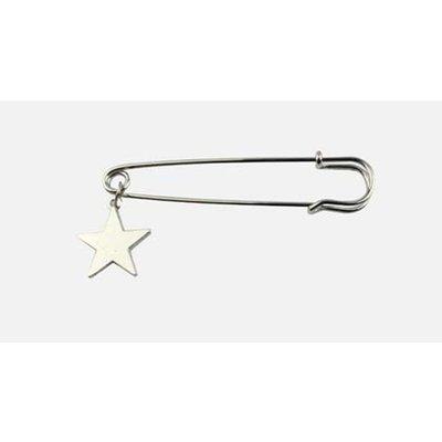 """Pin """"Star"""" silver per 3pcs."""