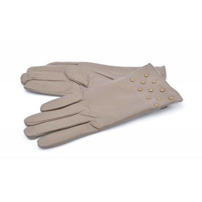 Handschoen leder studs (895133)