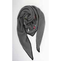 Sjaal patched grijs