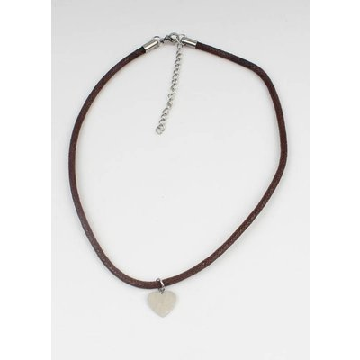 Choker heart stainless steel (353083)