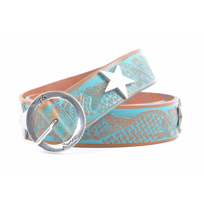 """Rove Riem met ster, """"August"""" turquoise"""