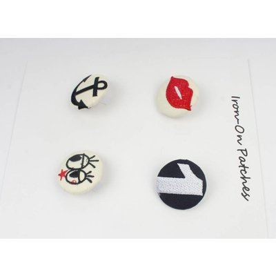 Fashion buttons, set of 4 (382641)