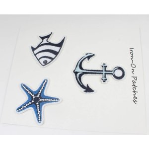 Patches maritiem 1, set van 3