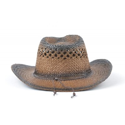 Cowboyhoed houten koord bruin (895292)