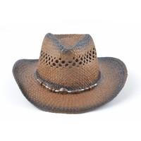 Cowboyhoed houten koord bruin