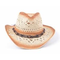 Cowboyhoed houten balletjes beige