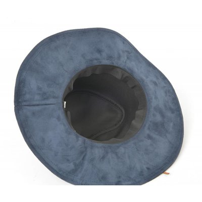 Flaphoed suede donker blauw (895268)
