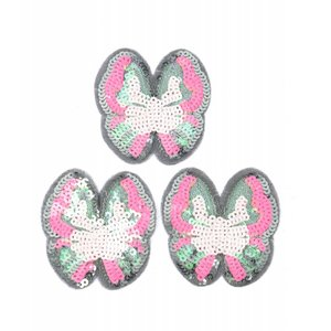 Patch pajetten vlinder, per 3st.