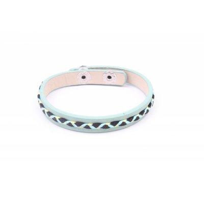Armband vlecht groen (327820)